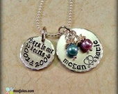 Adoption Necklace, Personalized Hand Stamped Adoption Jewelry, Gotcha Day, Childrens Names, Mother's Day Gift, Birthstone, Grandma Necklace