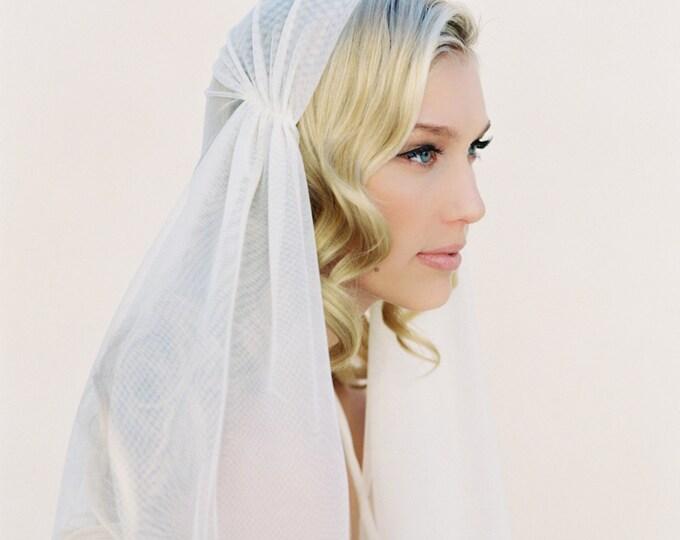 Juliet Cap Veil, Ivory Wedding Veil, English Net Bridal Veil, Soft Drape Veil, Style #1108