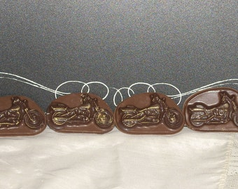 Chocolate Motorcycle cupcake toppers