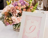 ELEGANT PINK BUTTERFLY Printable Table Number