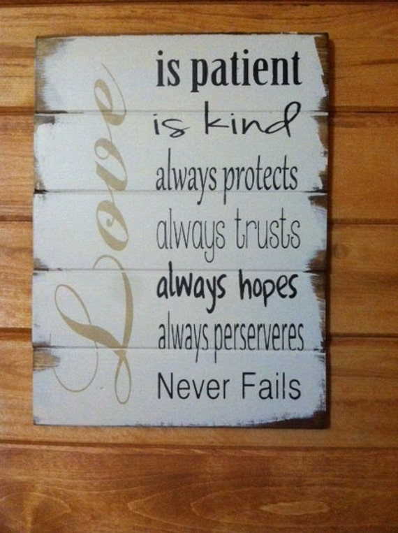 Love Is Patient Kind Always Protects Always Trusts 1