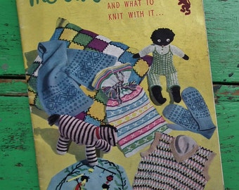 The Odd Ounce Knitting Book Vintage 40s 50s patterns booklet - Soft Toys Doll Geisha Tea Cosy Bags Blousette 1940s 1950s original patterns