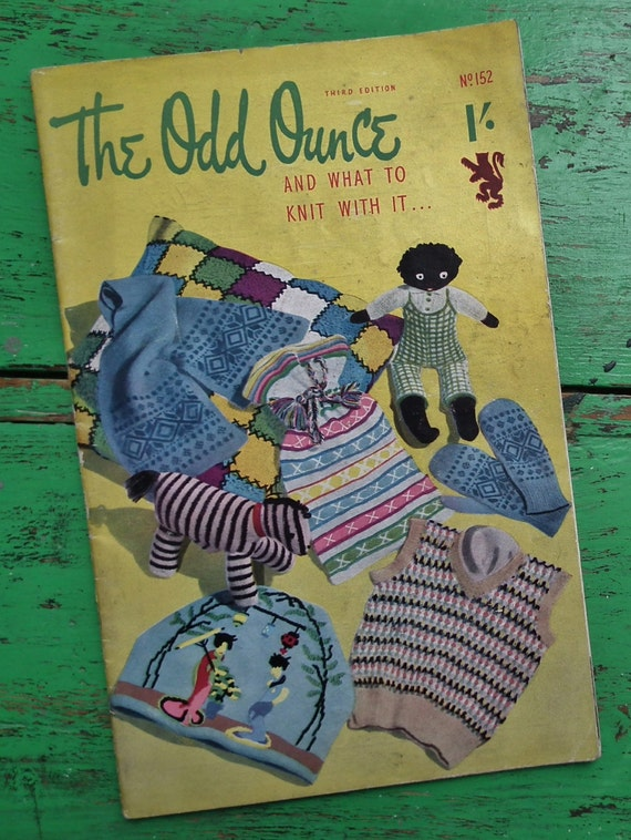 Toys From The 40s : The odd ounce knitting book vintage s patterns booklet