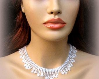 Bridal Rhinestone Necklace wedding Necklaces