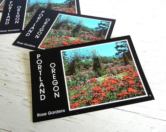Portland Oregon Postcard | Rose Gardens | 1970s Pacific Northwest | Save the Date Cards | Vintage Wedding Invitations
