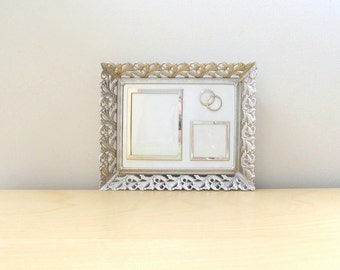 5 x 7 silver anniversary photo frame vintage wedding decor entwined rings