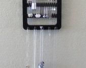 Earring Holder  Earring rack Jewelry Organizer / jewelry rack 5 pegs BLACK Wall Hanging