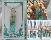 Mermaid Treasure - 'Magical' Glass Pendant With Starfish Charm