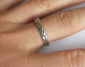 Thick sterling silver braid ring