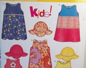 Easy Toddler Sewing Pattern New Look 6281 Girl's Easy to Sew Sleeveless Sundress and Sun Hat, Size 1/2 - 4, Summer Dress, Pattern Destash