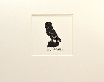 Owl (Barn Owl) Hand - Cut Papercut Picture