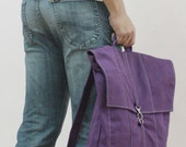 New Year SALE - 20% OFF Fitt in Purple / Backpack / Satchel / Rucksack / Laptop / Tote / Women / Men / For Him / Gift Ideas