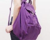 Back To School SALE - 20% OFF Essential in Purple / Backpack / Satchel / Rucksack / Diaper Bag / Tote / Women / Shoulder Bag / For Her