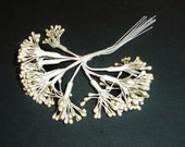 Millinery Flower Stamen Hat Ribbon Rose Trim Floral Supplies Off White Ivory Pearl Beads no1owP