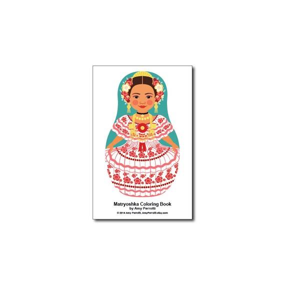Matryoshkas (H) Mini Coloring Book Printable file