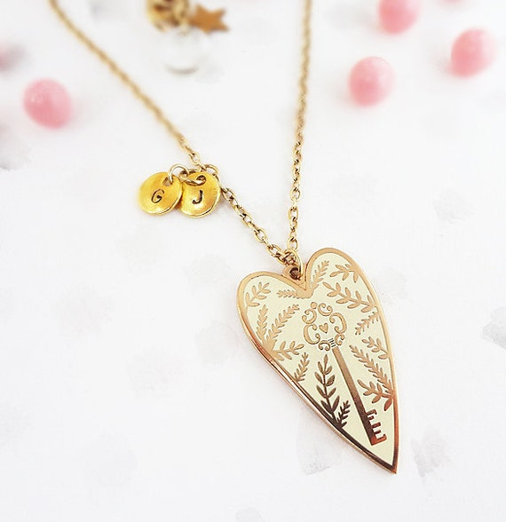 You hold the key personalised pendant necklace gold like this item aloadofball Gallery