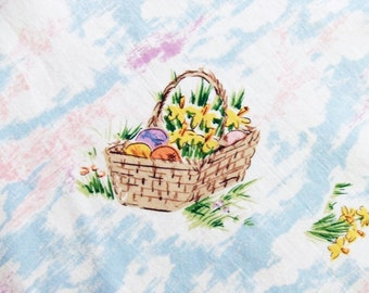 Round Tablecloth for Easter 66 Inches