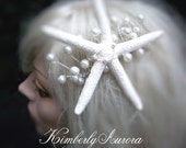 Beach Wedding Starfish Hair Accessory Comb (Jumby Bay Style). In Stock, Ready to Ship