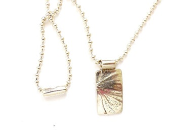 Sterling gingko necklace, leaf jewelry, botanical replica, Zen accessory