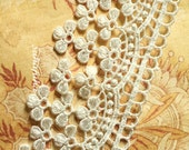 IVORY Garland Flower Dangles Tassels Lace for Scrapbooking, Jewelry Design, Garters, Altered Art,1 7/8th inch