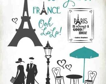 France SVG Files - France Cuttable SVG - Paris Svg Files - Travel SVG - France Cut Files for Cricut or Silhouette - Ai Eps Gsd Svg