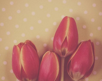 Antique Tulips - Romantic Floral Nature Bouquet Home Decor Photography Print