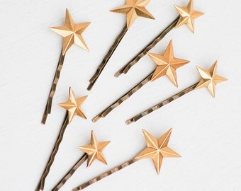 Star Bobby Pins, Gold Star Jewelry, Star Hair Pins, Bridal Hair, Star Hair Accessories,  Bohemian Wedding, Constellation Jewelry