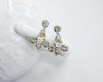 1950s Rhinestone Screwback Earrings
