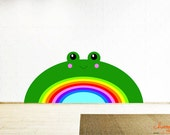 Rainbow Frog Wall Decals