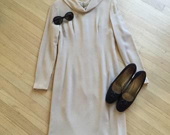 60s Slinky Mink Shift Pencil Dress