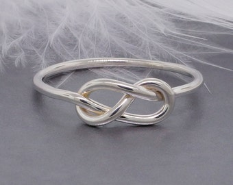 Promise ring, Infinity knot ring, figure 8 ring, sterling silver ring, friendship ring, purity ring