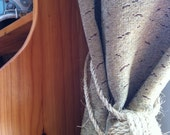 Nautical Curtains-  Rope Curtain Tiebacks - Single or Pair- sisal - Nautical Decor