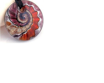 Lamp Work  Murano Glass  Pendant  ,  50MM Lampwork Glass  Pendant