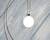 2 Templates - 1 Inch Round Glass Pendant Chain and Charm
