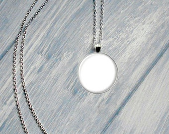 Two Templates - 1 Inch Round Glass Pendant Chain and Charm