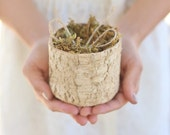 Rustic Ring Bearer Pillow Alternative Birch Moss Twine Woodland Natural Wedding NEW Quick Shipping Available