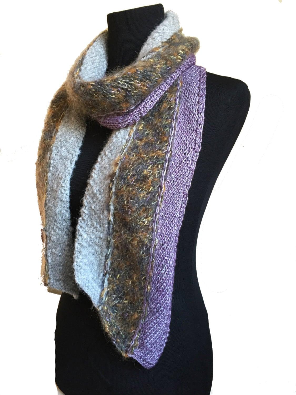 Knitting On The Bias Shawl Pattern : Talvi scarf knitting pattern pdf modular knit on the bias