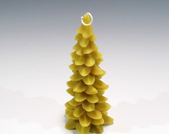 Beeswax Christmas Tree Candle