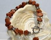 Gemstone Beaded Bracelet-Goldstone Nugget Bracelet-Third Eye Chakra Bracelet-Protection Stone-Energy Generator Stone Bracelet-Womens-Gift