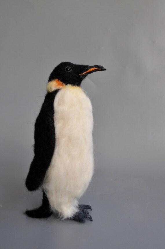 Needle Felted  Penguin Made for custom order