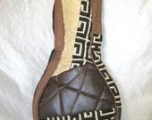 A Style Mandolin Case - Beginner Case - Gig Bag in Black Brown Patchwork Gig Bag Musician Gift PIF
