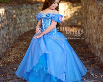 New Cinderella Inspired dress  custom ballgown 2t halloween costume