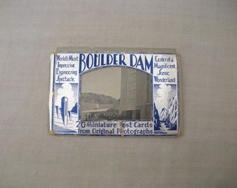 Vintage Boulder Dam Souvenir Photo Packet