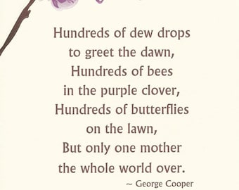 Mother's Day Card - Purple Orchid