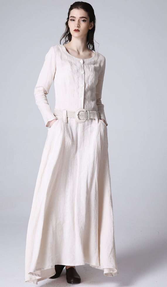items similar to day dressmaxi dress linen dress womens