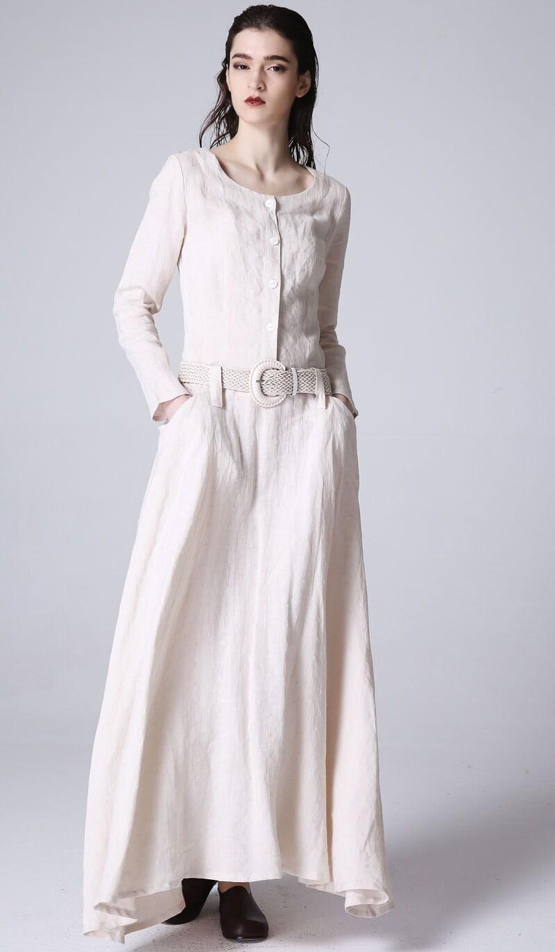 day dressmaxi dress linen dress womens dresses handmade