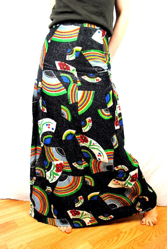 RARE Vintage Designer Metallic Skirt - DONALD PLINER - The Right Bank Clothing Company of Beverly Hills