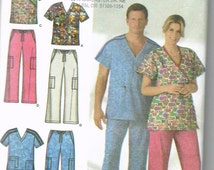 Uncut, Unisex Size XS,S,M, Sewing Pattern, Simplicity 4378, Nurse Doctor Scrubs, Uniform, Costume, Top, Pants, Men, Misses, Woman, Teen Easy