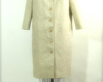 Spring Coat with Beaded Collar