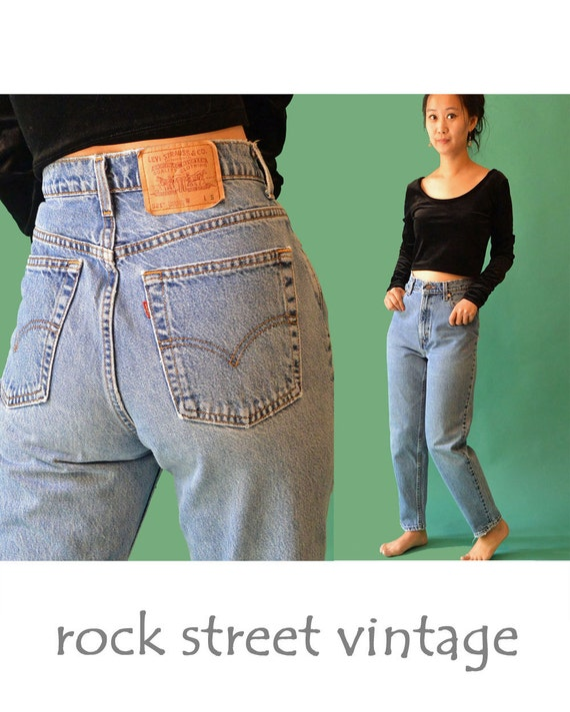 ann es 80 vintage levis 521 taille haute levi jeans womens. Black Bedroom Furniture Sets. Home Design Ideas